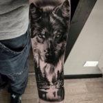 Значение татуировки волк на предплечье