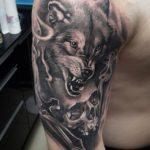 Значение тату волка с черепом