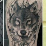 Волк в стиле графика