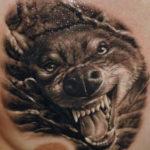 Татуировка оскал волка