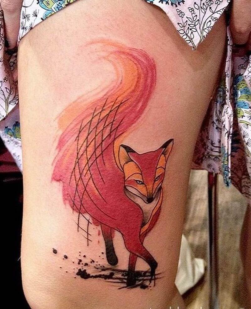 Татуировка лиса. Символика, основное 60