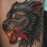 Волк в стиле олд скул